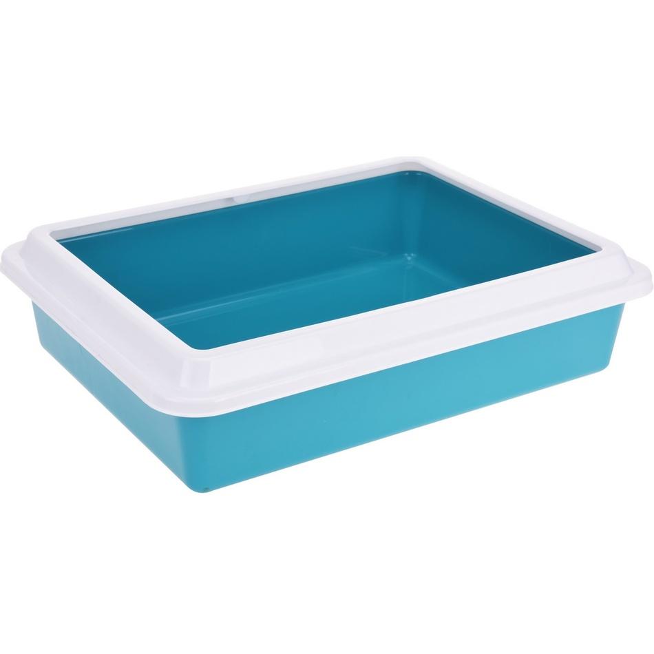 Toaleta pro kočky Simple, modrá