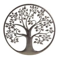 Kovová nástěnná dekorace Strom života, 40 x 1 x 40 cm