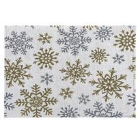 Față de masă Snowflakes albă, 33 x 48 cm