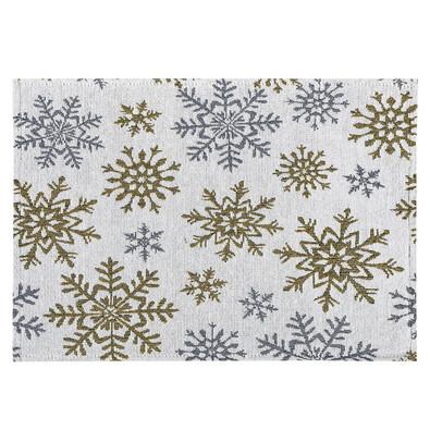 Prestieranie Snowflakes biela, 33 x 48 cm