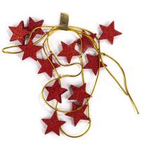 Vánoční girlanda s hvězdami červená, 220 cm