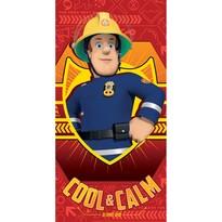 Fireman Sam red törölköző, 70 x 140