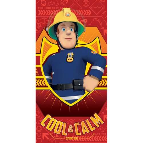 Prosop Fireman Sam red, 70 x 140