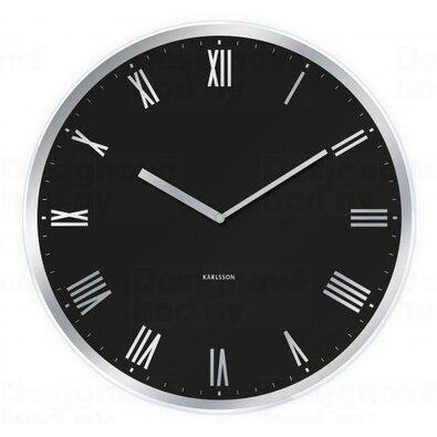 Karlsson 5423BK Dizajnové nástenné hodiny, pr. 40 cm