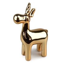 Ceramiczny Renifer bożonarodzeniowy, złoty