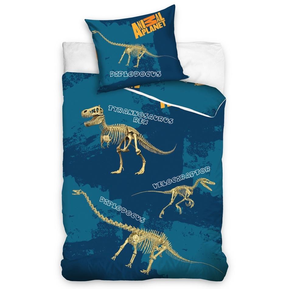 Tip Trade Bavlnené obliečky Animal Planet Dino, 140 x 200 cm, 70 x 80 cm