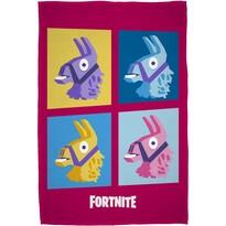 Fortnite takaró, rózsaszín, 100 x 150 cm