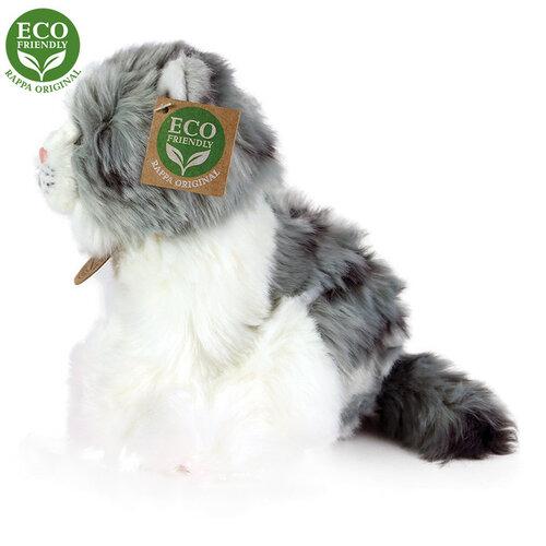 Rappa Plyšová kočka šedo - bílá, 17 cm