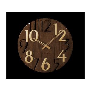 LCT1011 Nástěnné hodiny LAVVU STYLE Brown Wood, pr. 40 cm