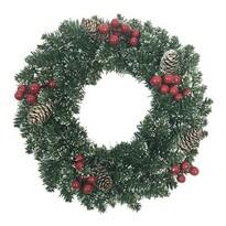Vánoční věnec Levante zelená, pr. 40 cm