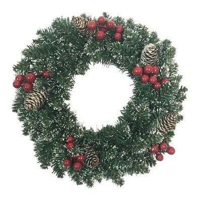 Levante karácsonyi koszorú, zöld, átmérő: 40 cm