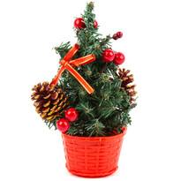 Vianočný stromček s mašľou červená, 20 cm