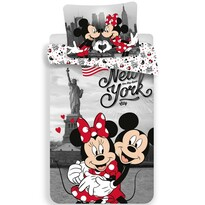 Detské bavlnené obliečky Mickey and Minnie in New York, 140 x 200 cm, 70 x 90 cm