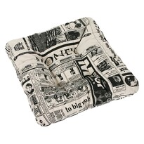 Pernă de scaun Ivo ziar, 40 x 40 cm
