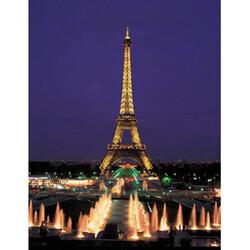 Puzzle EDUCA Neonová Eiffelova věž, Paříž 1000 díl, vícebarevná