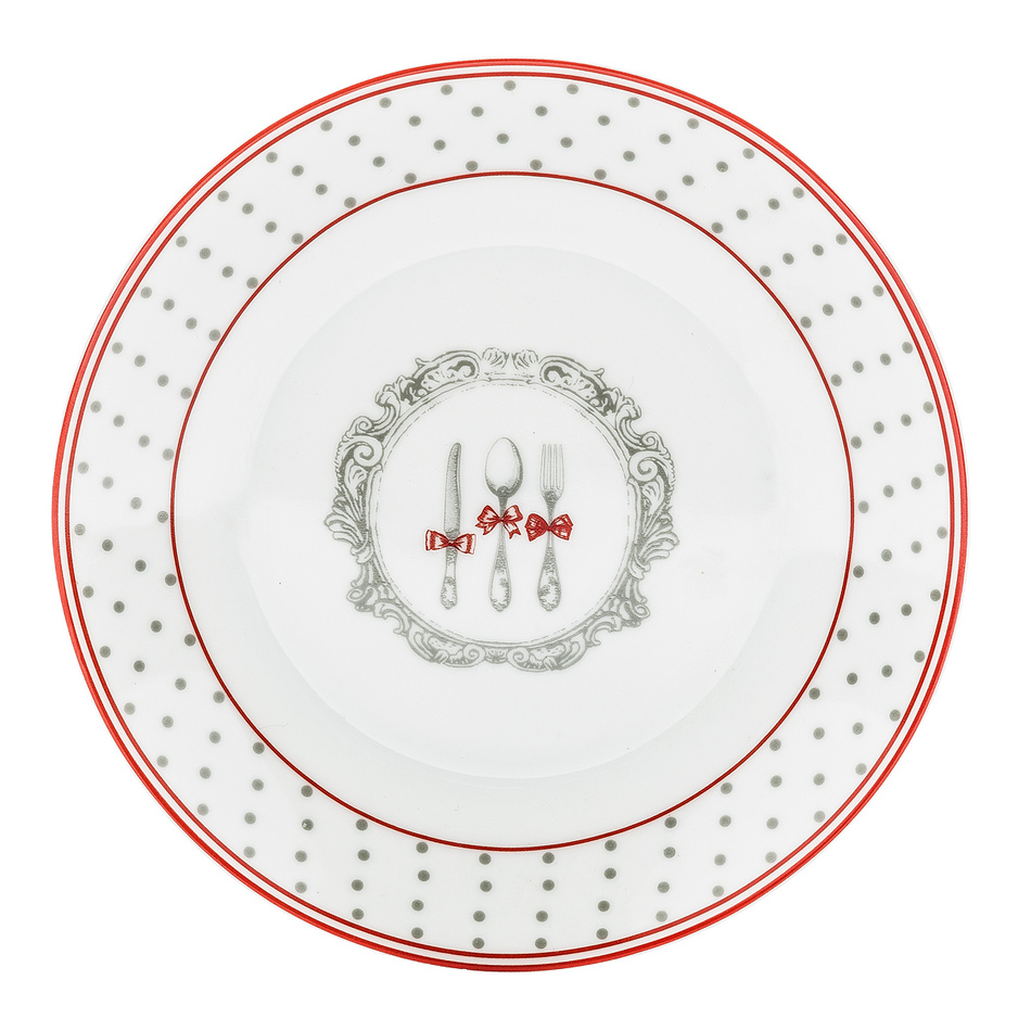 Dezertný tanier Alice 19 cm, sivá