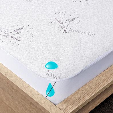 4Home Lavender Nepropustný chránič matrace s lemem, 90 x 200 cm + 30 cm