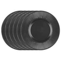 Florina Sada dezertních talířů Capri, 22 cm, 6 ks, černá