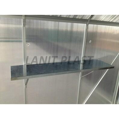 LanitPlast LanitGarden polička 120 x 30 cm 2 ks stříbrná