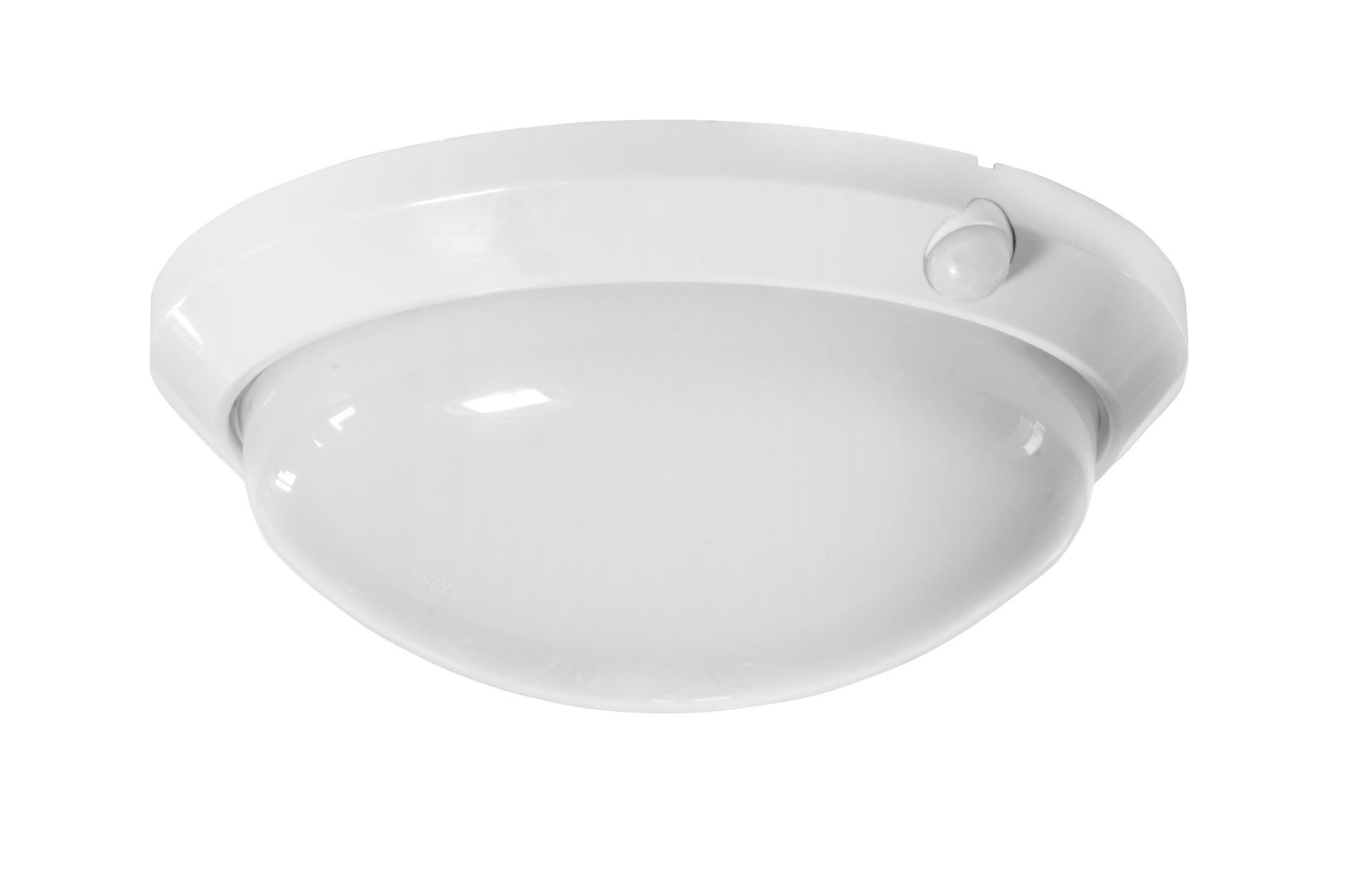 Nástenné svetlo Olga 60 W so senzorom, biela,