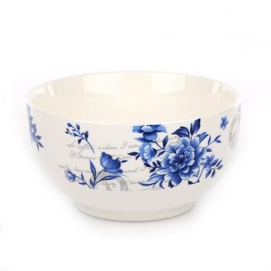 INDIGO ROSE snídaňová miska s květinami