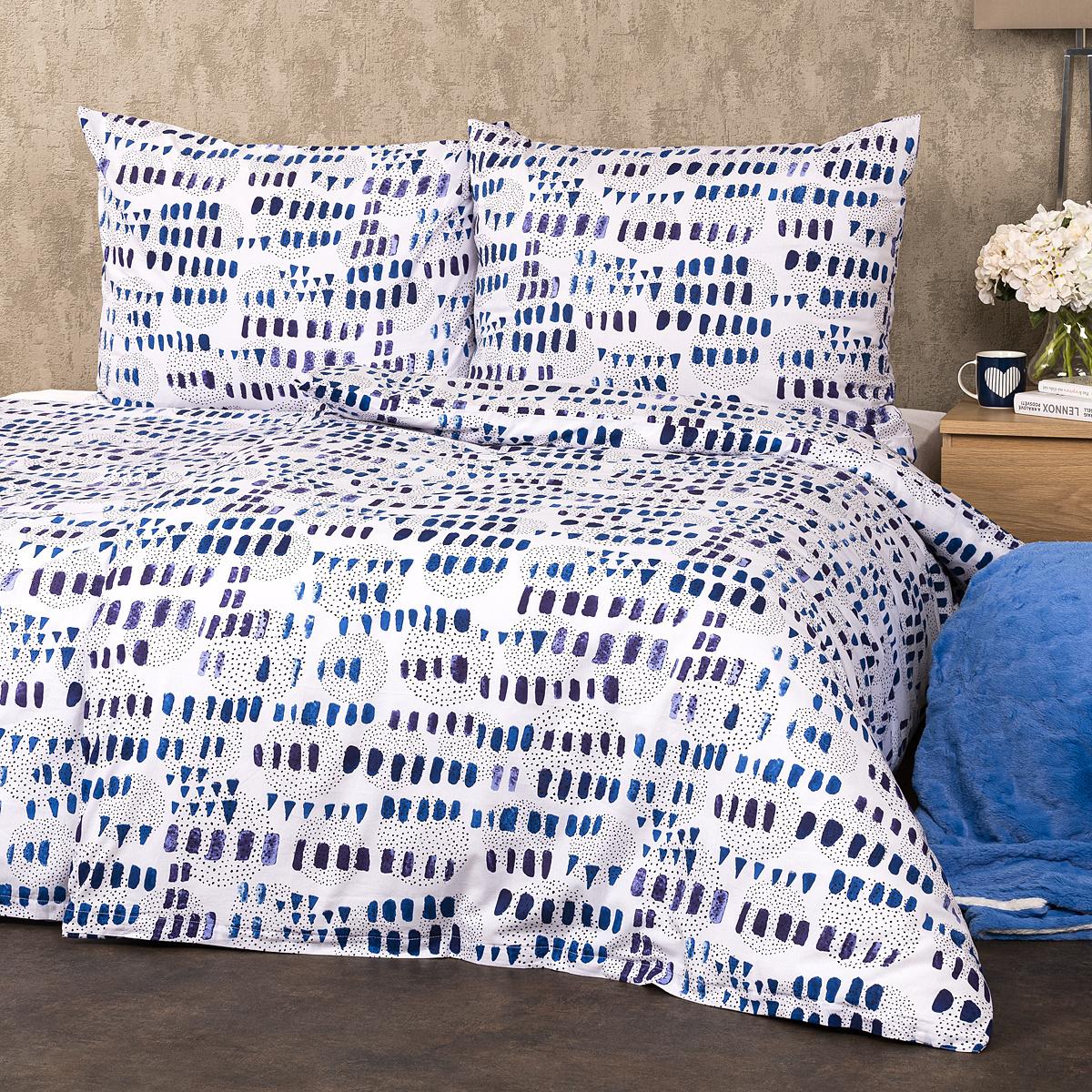 Trade Concept Bavlněné povlečení Indigo Dream, 140 x 200 cm, 70 x 90 cm