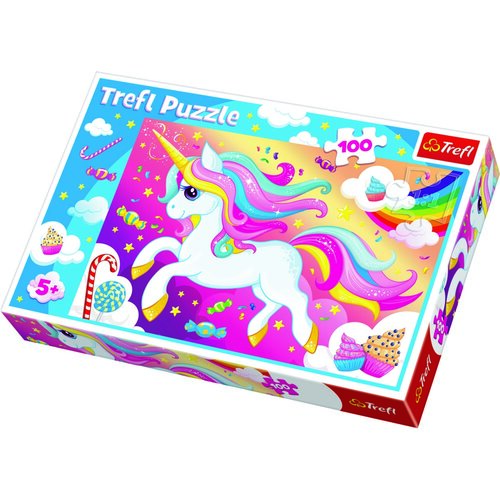 Trefl Puzzle Sladký jednorožec, 100 dielikov