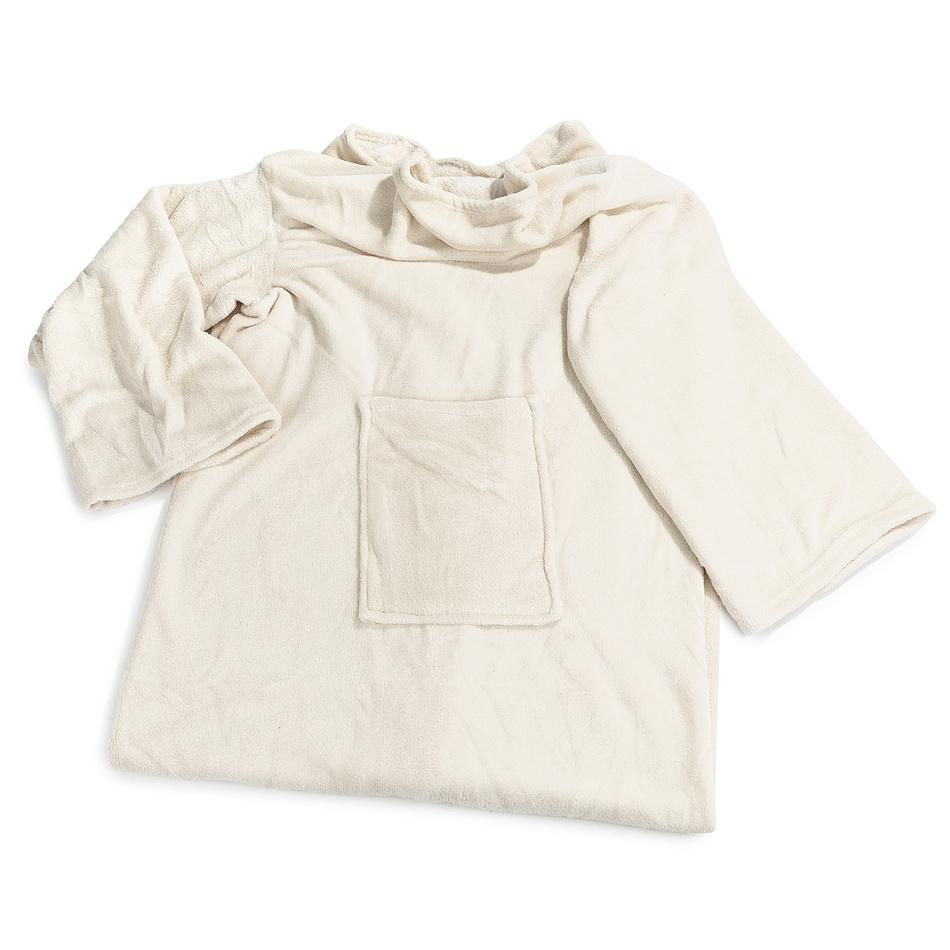 Modom Deka Comfort s rukávy a kapsou béžová, 180 x 135 cm