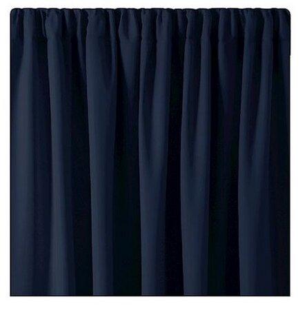 AmeliaHome Zasłona Blackout Oxford Pleat indigo, 140 x 245 cm