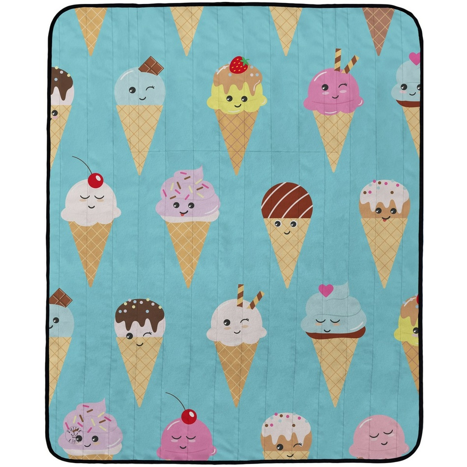 Butter Kings Kempingová deka Happy Ice creams, 145 x 180 cm