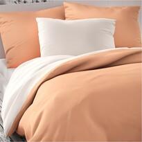 Luxury Collection szatén ágynemű, fehér/lazac, 140 x 200 cm, 70 x 90 cm