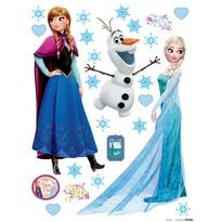 Decoraţiune adezivă Elsa şi Anna, 30 x 30 cm