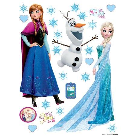 Samolepiaca dekorácia Elsa a Anna, 30 x 30 cm