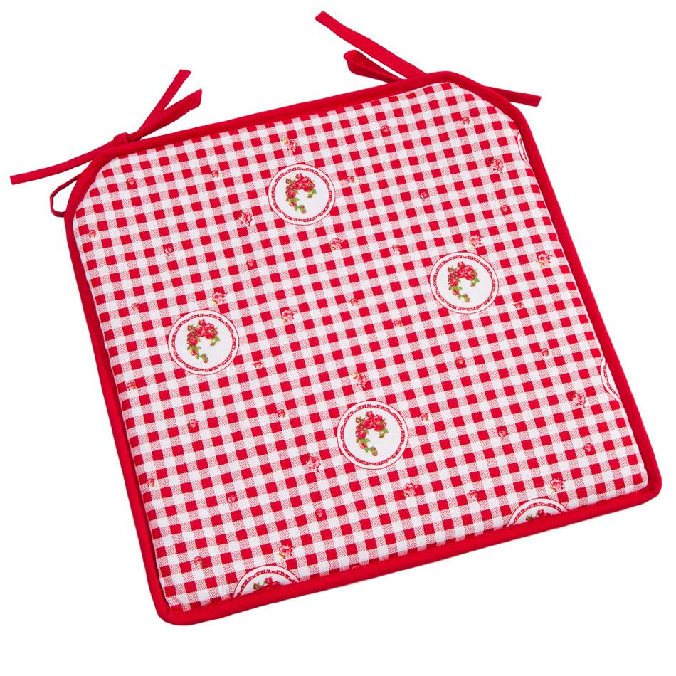 Trade Concept Sedák Country kocka červená, 40 x 40 cm