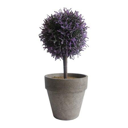 StarDeco Umělý stromek v květináči fialová, 27 cm