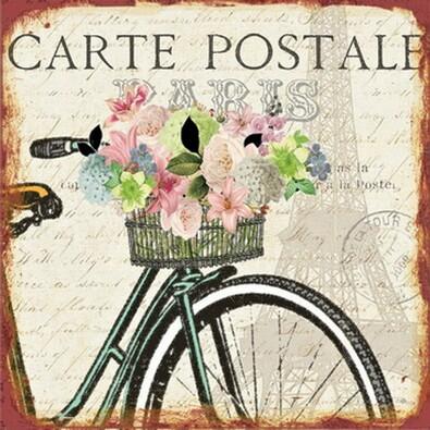 Obraz Carte postale Paris