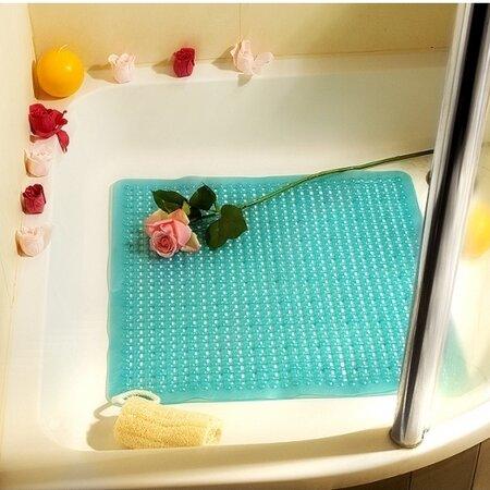 Protišmyková podložka do sprchy Ramsi modrá, 52 x 52 cm