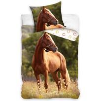 Vörös lovas pamut ágynemű, 140 x 200 cm, 70 x 90 cm