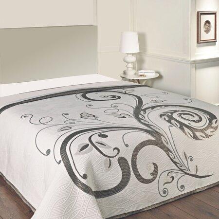 Přehoz na postel Dominic black, 240 x 260 cm