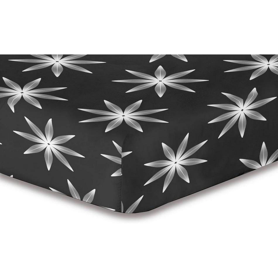 DecoKing Prestieradlo Alpin S2 mikrovlákno, 180 x 200 cm, čierna, 180 x 200 cm