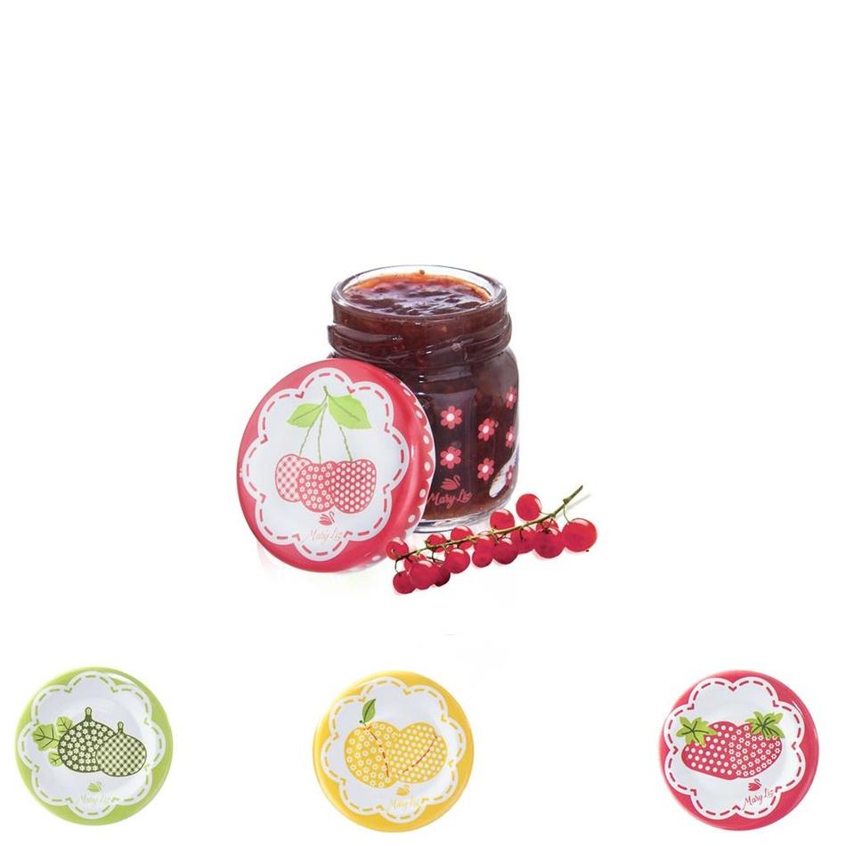 Orion Sada zaváracích pohárov s viečkom Sweet 40 ml, 8 ks, mix farieb