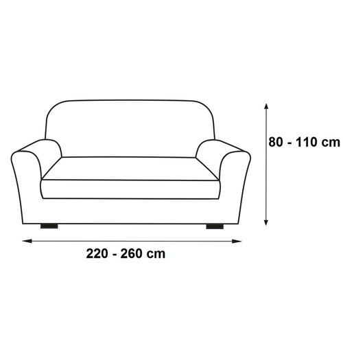 Multielastický potah na pohovku Contra šedá, 220 - 260 cm