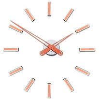 Future Time FT9600CO Modular copper Designowe zegar samoprzylepny, śr. 60 cm