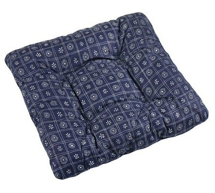Sedák Adéla tm. modré čtverce, 40 x 40 cm, sada 2 ks