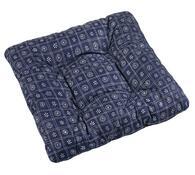 Sedák Adéla, tm. modré čtverce, 40 x 40 cm, sada 2 ks