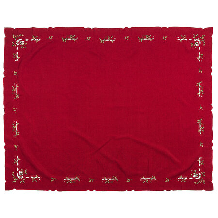 Vianočný obrus imelo červená, 120 x 140 cm