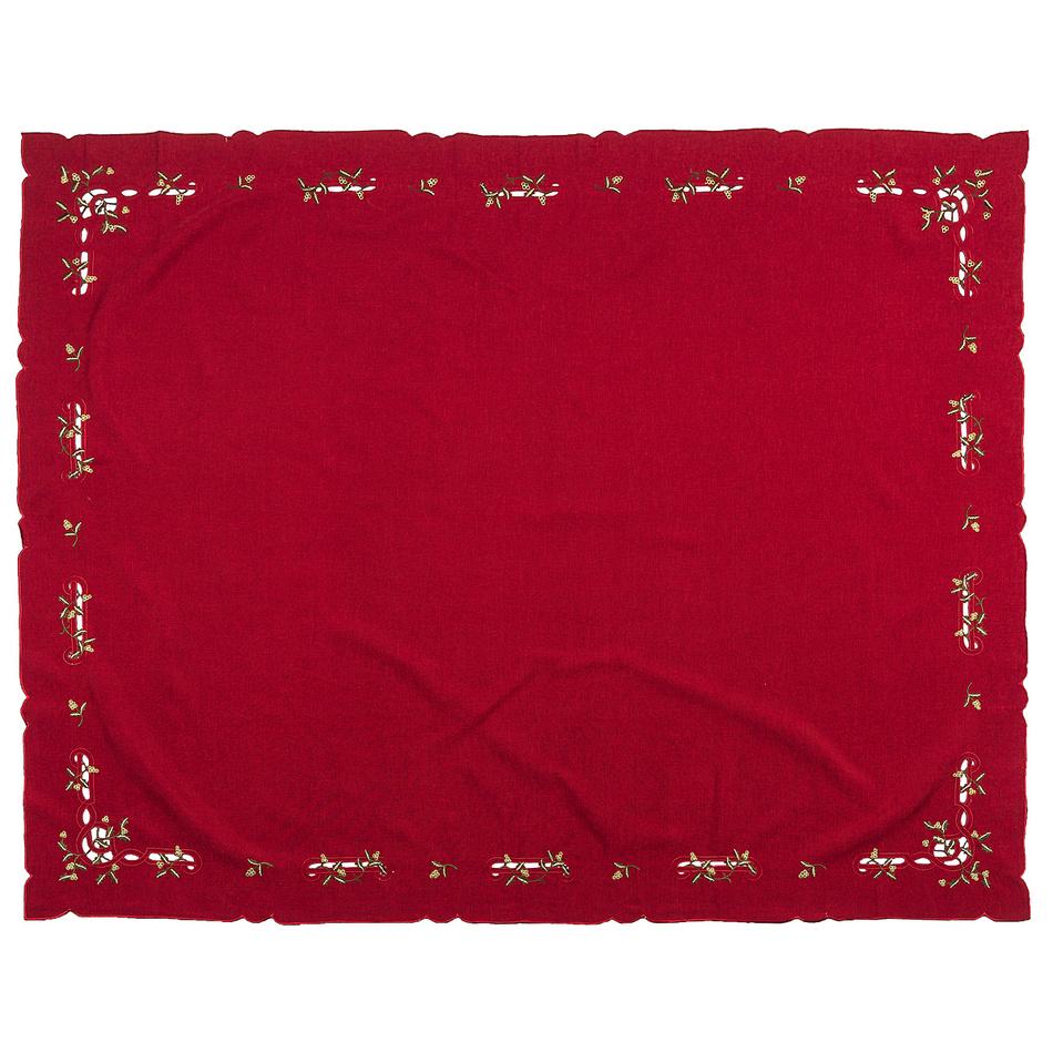 Forbyt Vánoční ubrus jmelí červená, 120 x 140 cm