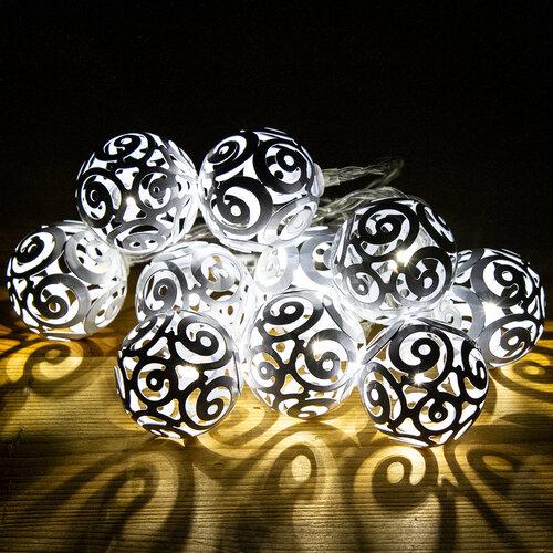 Girando fényfüzér, fehér, 10 LED-es