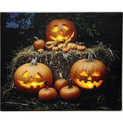 LED Obraz na plátně Pumpkin, 50 x 40 cm