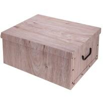 Úložný box s víkem Wood, přírodní